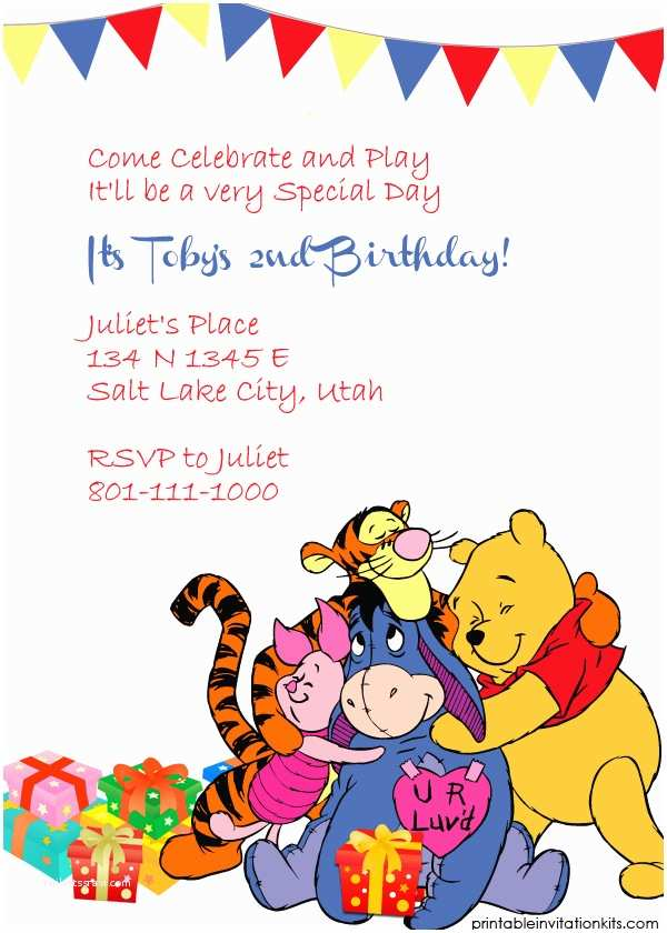 Winnie the Pooh Party Invites Winnie the Pooh and Friends Invitation ← Wedding