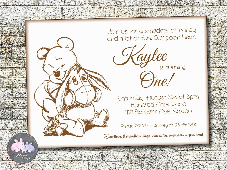 Winnie the Pooh Party Invites Winnie the Pooh Birthday Invitation Pooh Bear Birthday
