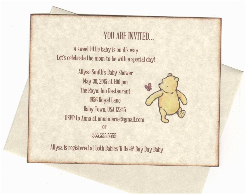 winnie the pooh invitations baby shower