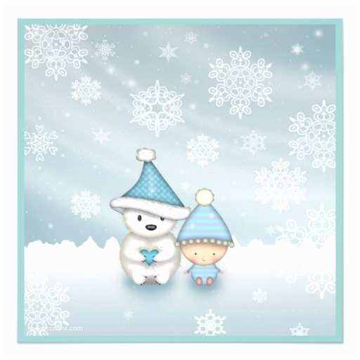 "Winter Baby Shower Invitations Cute Winter Baby Shower Invitations 5 25"" Square"