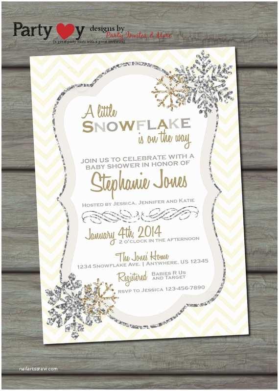 Winter Baby Shower Invitations Items Similar to Snowflake Baby Shower Invitation Winter