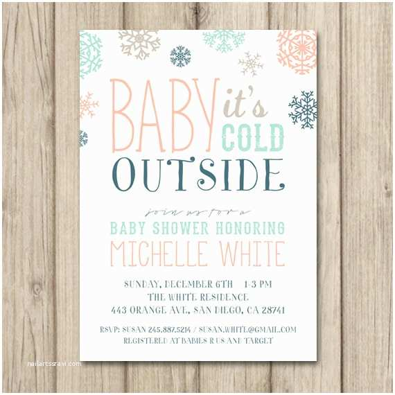 Winter Baby Shower Invitations Items Similar to Winter Baby Shower Invitation Baby It S