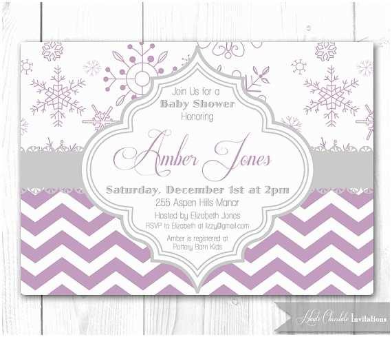 Winter Baby Shower Invitations Items Similar to Winter Baby Shower Invitation Modern
