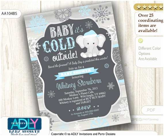 Winter Baby Shower Invitations Items Similar to Winter Baby Shower Invitation with