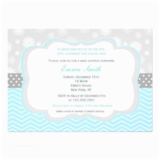 Winter Baby Shower Invitations Snowflake Winter Baby Shower Invitations