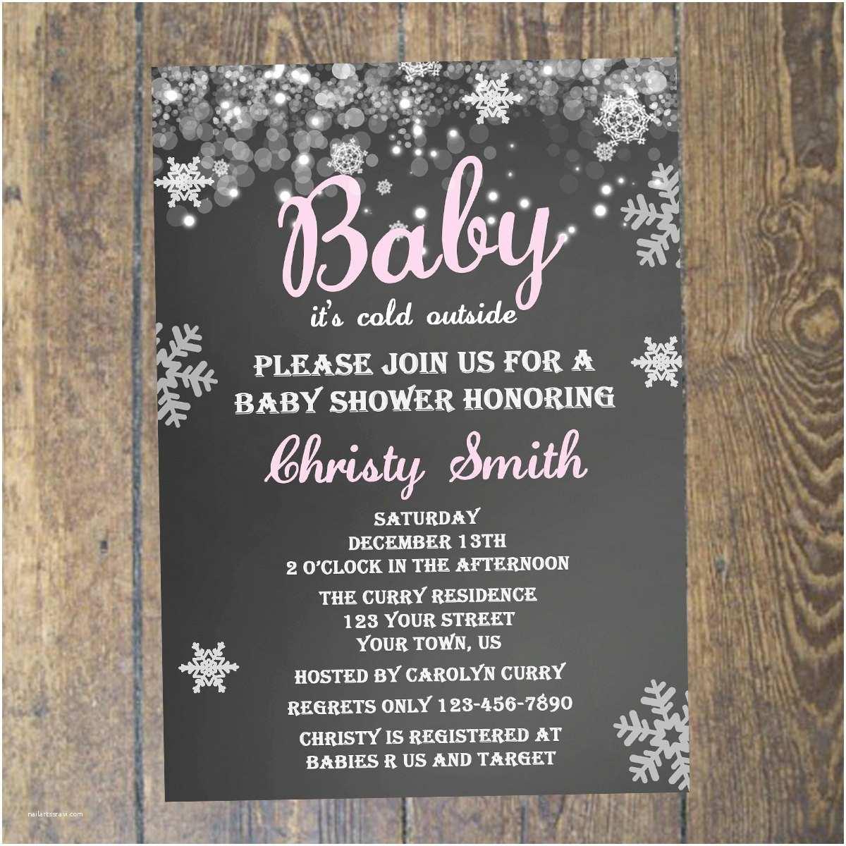 Winter Baby Shower Invitations theme Winter Baby Boy Shower Invitations Winter Baby