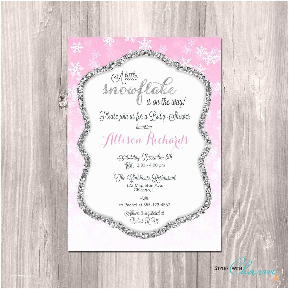 Winter Baby Shower Invitations theme Winter themed Baby Shower Invitations Winter Baby
