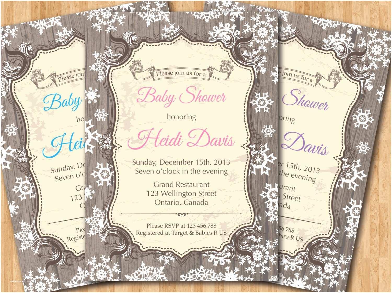 Winter Baby Shower Invitations theme Winter White Baby Shower Invitations Winter Baby