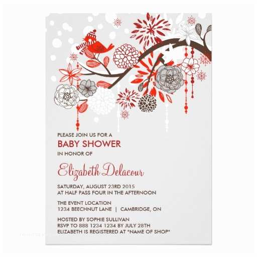 Winter Baby Shower Invitations Whimsical Winter Snow Baby Shower Invitation