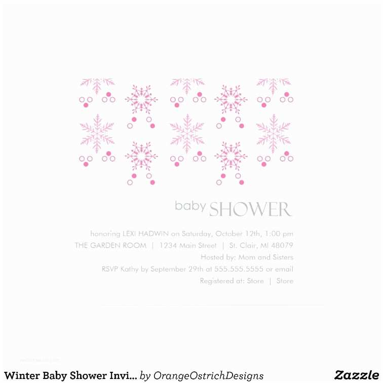 Winter Baby Shower Invitations Winter Baby Shower Invitation Girl