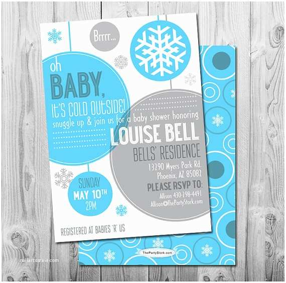 Winter Baby Shower Invitations Winter Baby Shower Invitation
