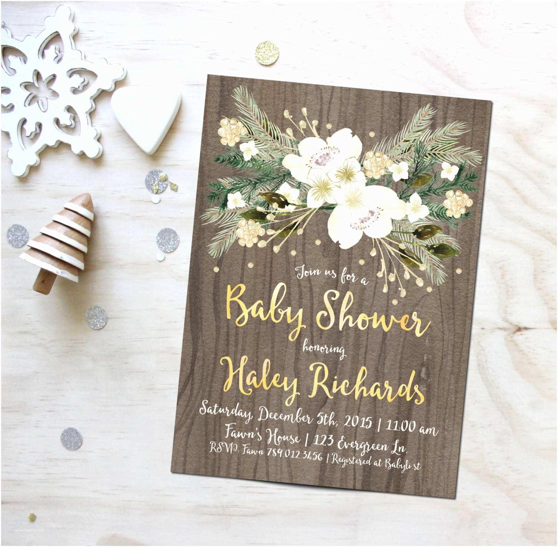 Winter Baby Shower Invitations Winter Baby Shower Invitation Printable by Invitedbyaudriana