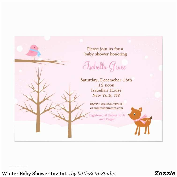 Winter Baby Shower Invitations Winter Baby Shower Invitations