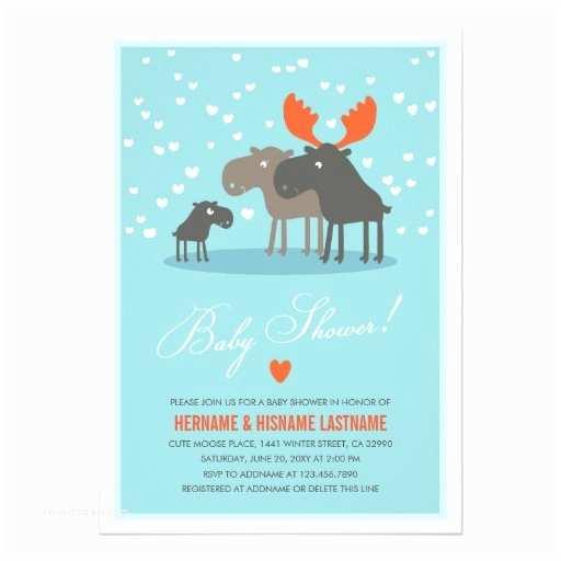 Winter Baby Shower Invitations Winter Deer Family Couples Baby Shower Invitation