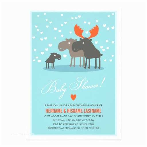 Winter Baby Shower Invitations Winter Deer Family Couples Baby Shower Invitation