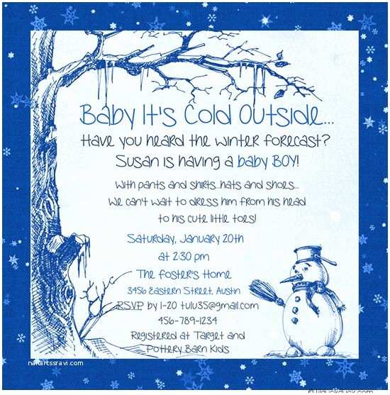 Winter Baby Shower Invitations Winter Snow Baby Shower Invitations