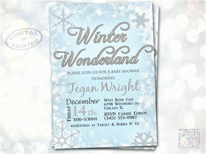 Winter Baby Shower Invitations Winter Wonderland Baby Shower Invitations Winter Baby Shower
