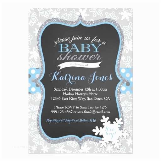 Winter Baby Shower Invitations Winter Wonderland Snowflake Baby Shower Invitation