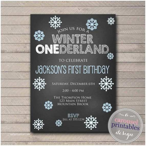 Winter First Birthday Party Invitations Best 25 Winter Onederland Invitations Ideas On Pinterest