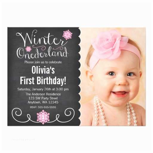 Winter First Birthday Party Invitations Whimsical Winter Ederland First Birthday