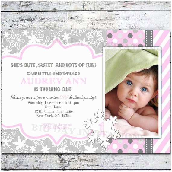 Winter First Birthday Party Invitations Winter Onederland 1st Birthday Invitation Winter Wonderland