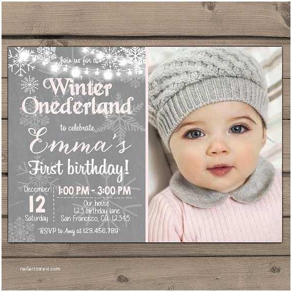 winter onederland invitation birthday
