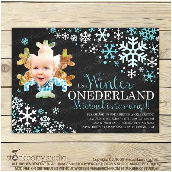 Winter Onederland Birthday Invitations Winter Ederland Chalkboard Invitation Printable Boy