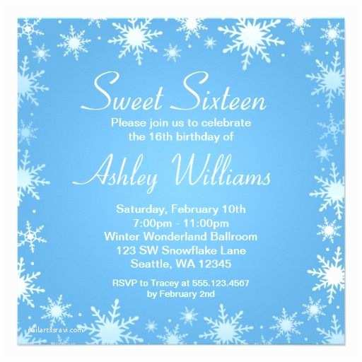 Winter Party Invitations 15 Best Winter Wonderland Sweet 16 Invitations Images On