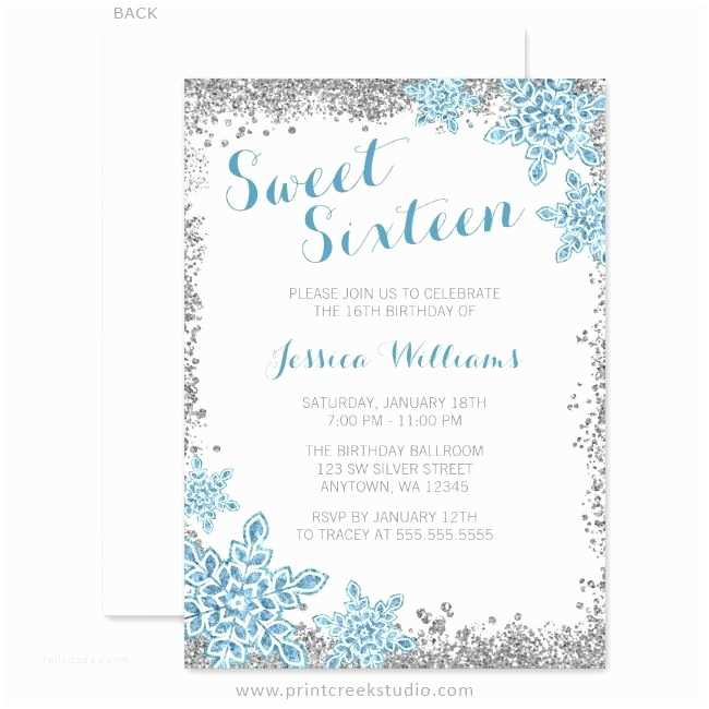 Winter Party Invitations 233 Best Winter Wonderland Sweet 16 Ideas Images On