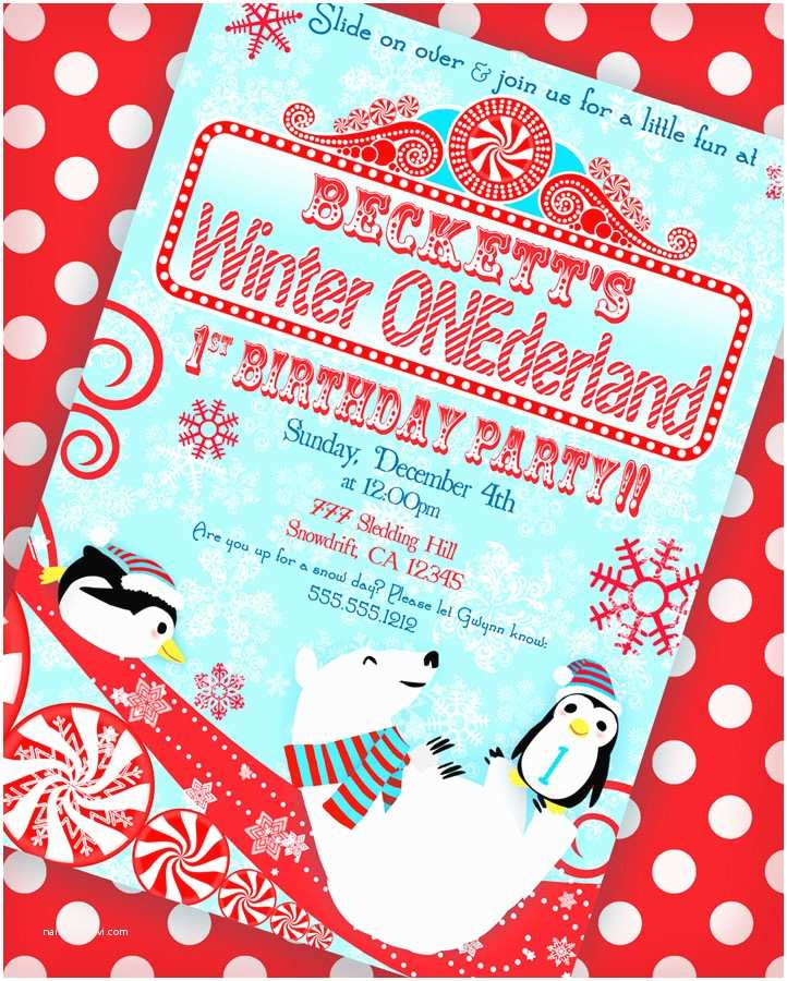 Winter Party Invitations Kara S Party Ideas Winter Onederland Birthday Party