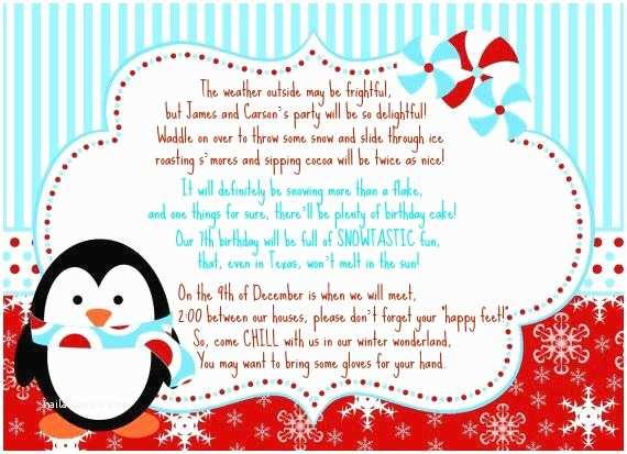 Winter Party Invitations Our Scott Spot Birthday Winter Wonderland