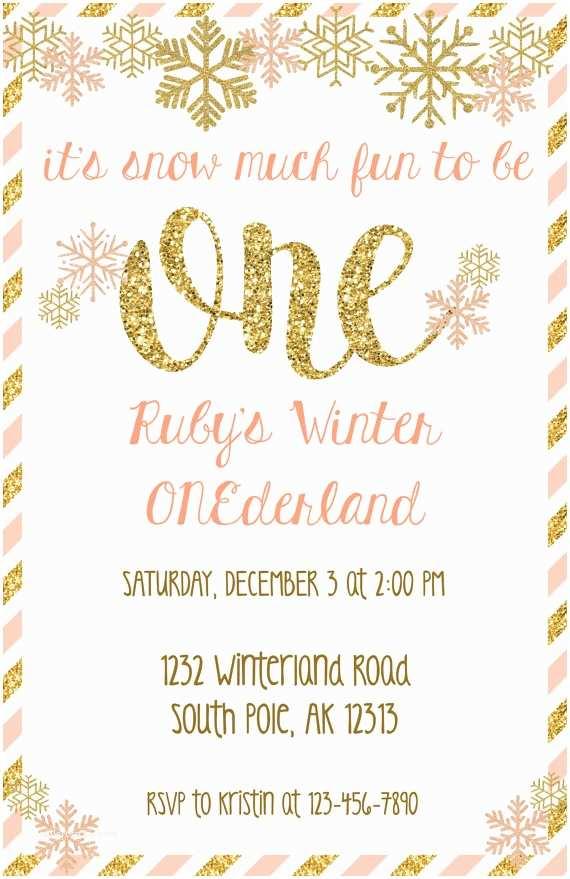 Winter Party Invitations Winter Ederland Invitation Winter Wonderland