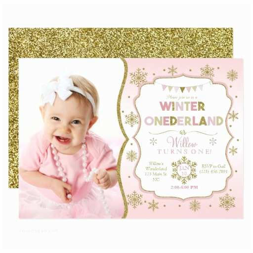 Winter Party Invitations Winter Ederland Snowflake Birthday Invitation