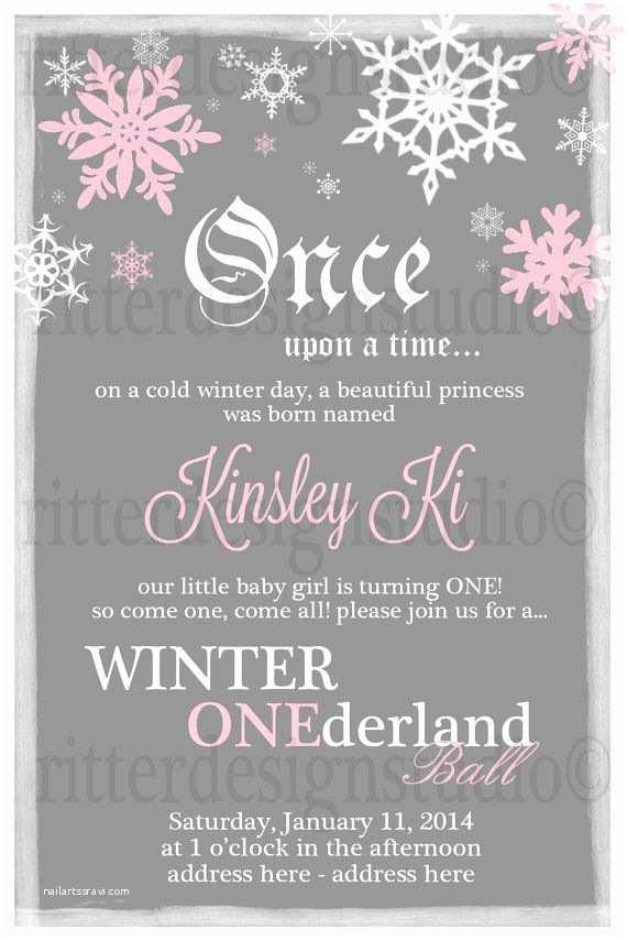 Winter Party Invitations Winter Onederland Ball Birthday Invitation Printable