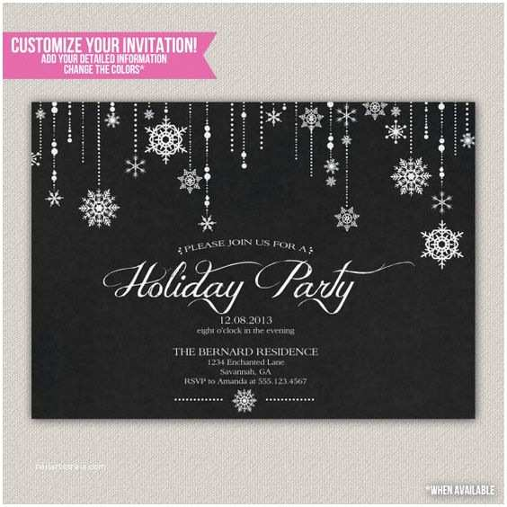 Winter Party Invitations Winter Wonderland Holiday Party Christmas Party