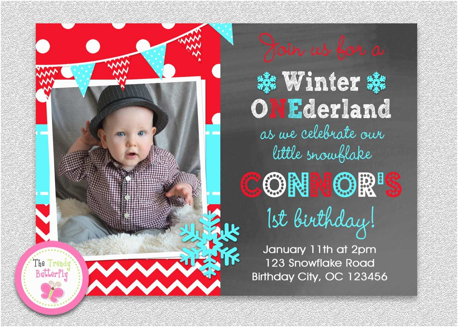 Winter Party Invitations Winter Wonderland Invitation Snowflake Invitation Birthday