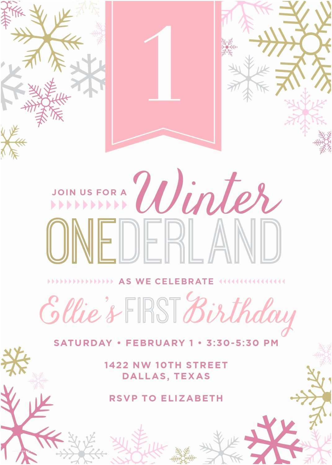 Winter Party Invitations Winter Wonderland Party Invitation by touiesdesign On Etsy