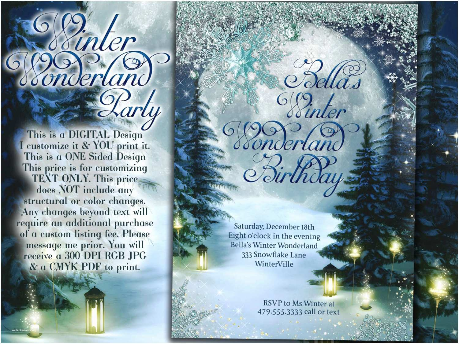 Winter Party Invitations Winter Wonderland Party Winter Invitation Winter Party