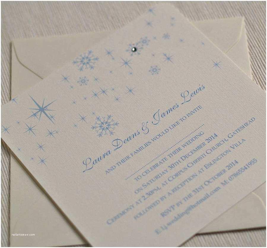 Winter themed Wedding Invitations Snowflake Winter themed Wedding Invitations by Beautiful