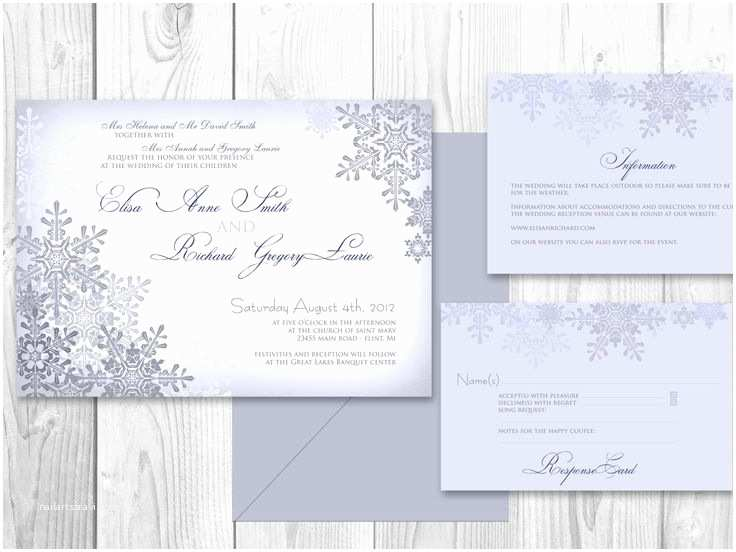 Winter Wedding Invitation Templates 45 Best Winter Wedding Invitations Images On Pinterest