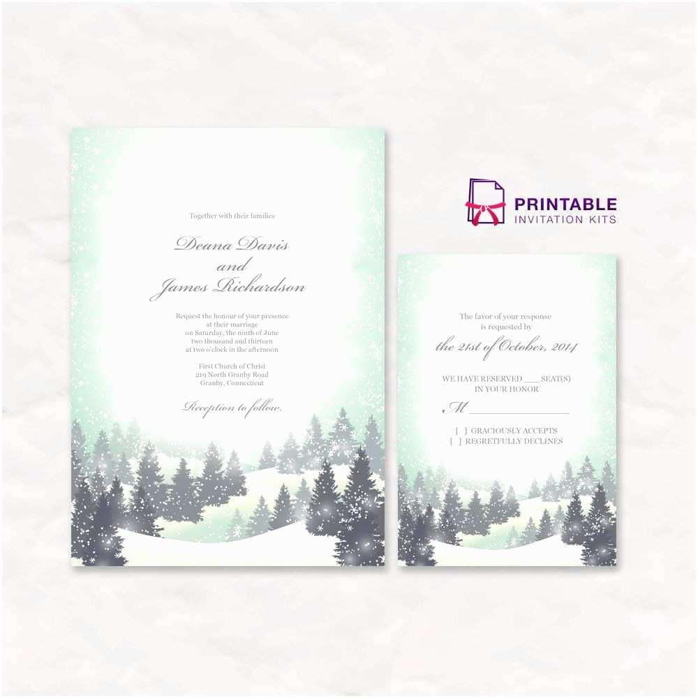 Winter Wedding Invitation Templates Free Pdf Download Winter Wonderland Wedding Invitation