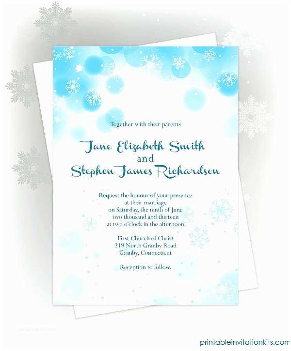 Winter Wedding Invitation Templates Free Printable Wedding Invitations