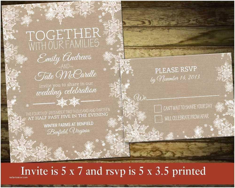 Winter Wedding Invitation Templates Printable Invitations