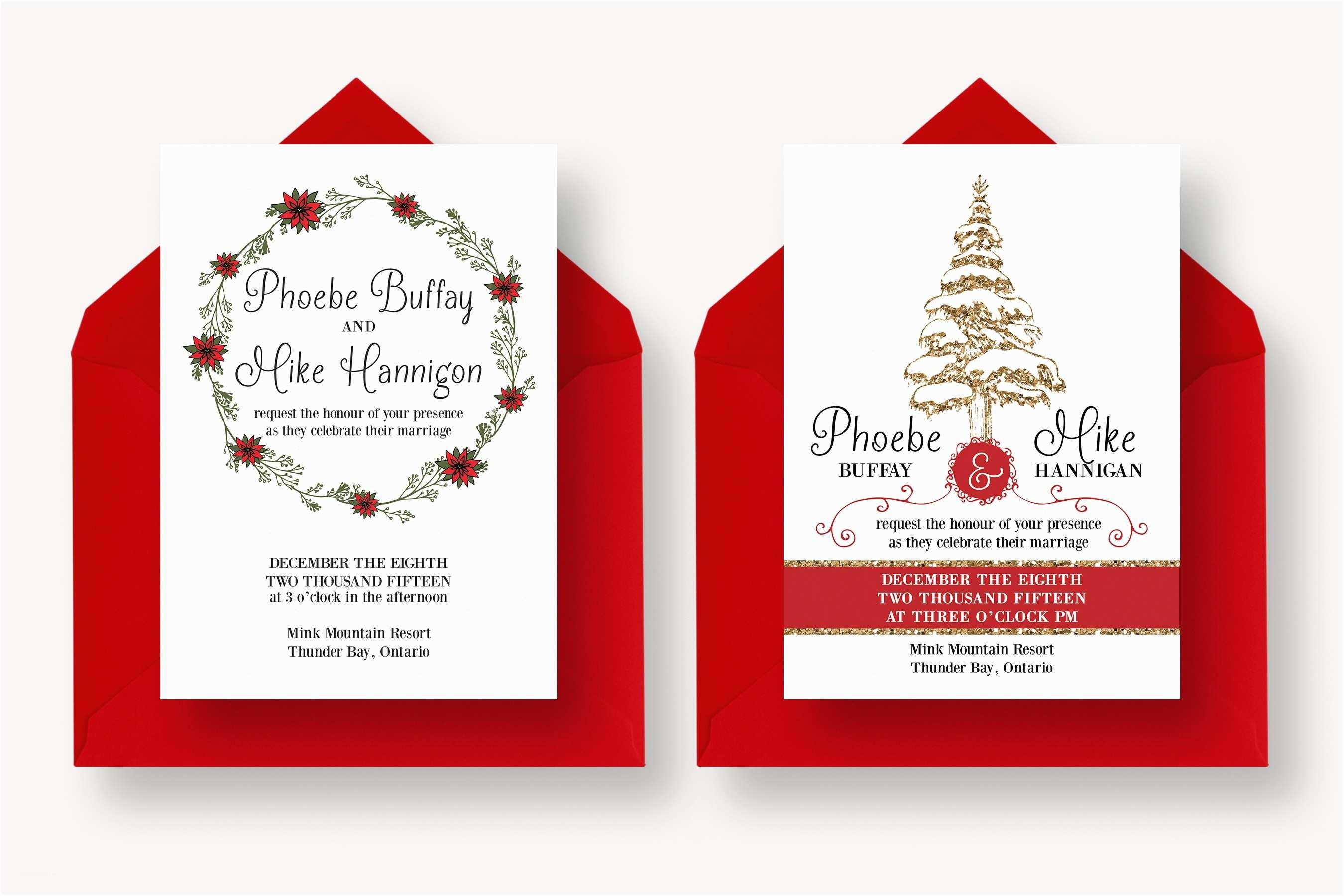 Winter Wedding Invitation Templates Winter Wedding Suite Invitation Templates On Creative Market
