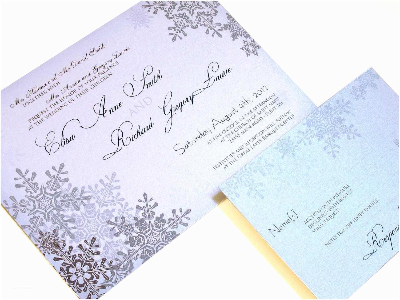 Winter Wedding Invitation Templates Winter Wonderland Wedding Invitations Template Resume