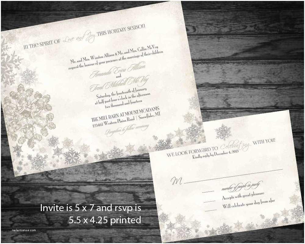 winter wedding invitation elegant