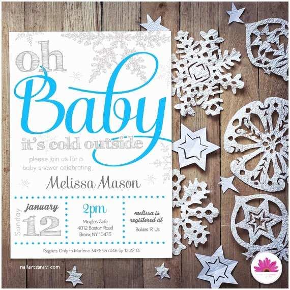 Winter Wonderland Baby Shower Invitations Baby Boy Shower Invitation Winter Wonderland theme