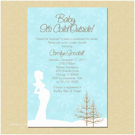 Winter Wonderland Baby Shower Invitations Baby It S Cold Outside Winter Wonderland by