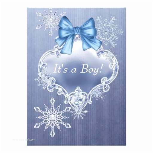 Winter Wonderland Baby Shower Invitations Blue Snowflake Winter Wonderland Baby Shower 5x7 Paper