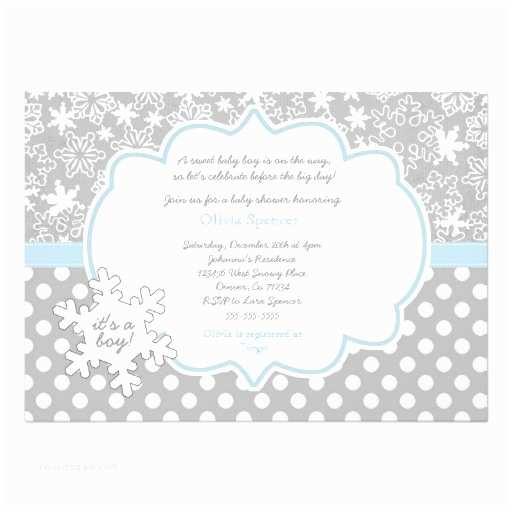 Winter Wonderland Baby Shower Invitations Snowflake Winter Wonderland Baby Shower Invitation 13 Cm X